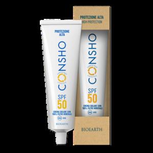 Bioearth - Crema solare SPF 50 con 100% filtri minerali